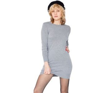 American Apparel Sweater Dress Grey - Size Small